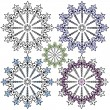Royalty-Free Stock Vector Image: Vintage decorative snowflakes