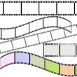 Film strips (vector) - Stock Vector