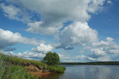 Greater river of Russia Volga — Stock Photo