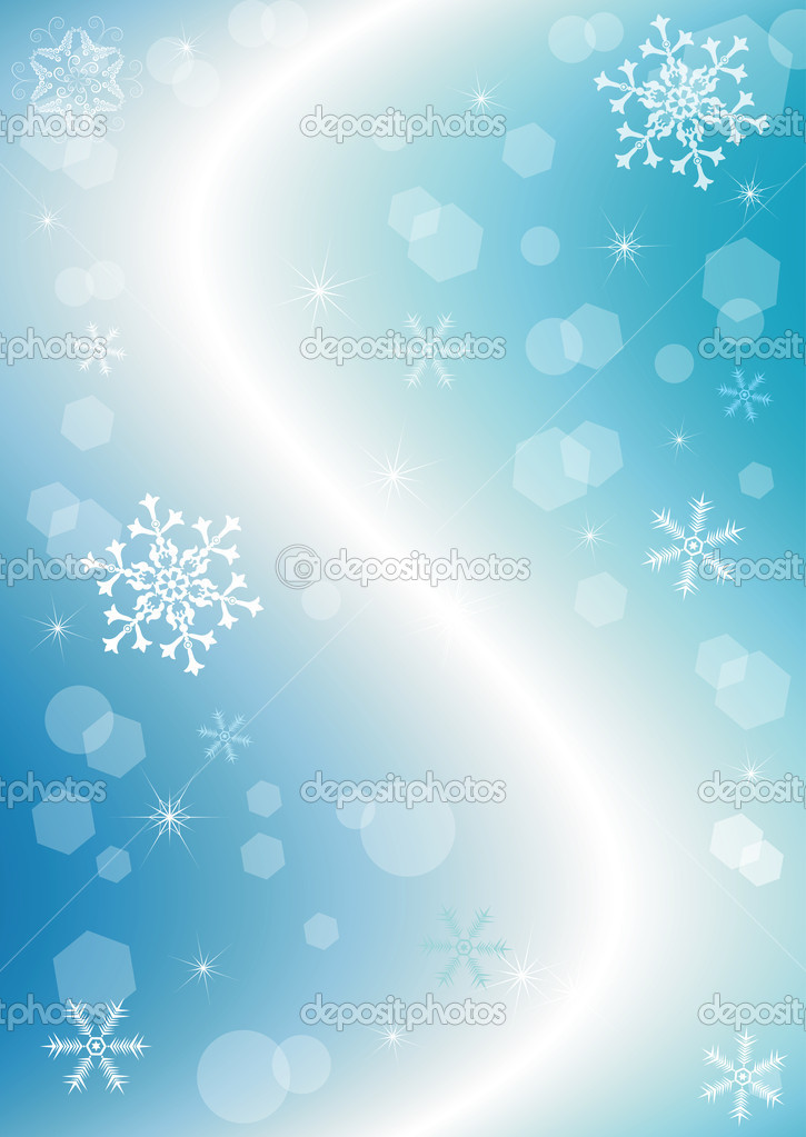 Blue christmas background with snowflakes (vector)  — Stock Vector #1103874