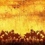 Starý papír s květinami — Stock fotografie