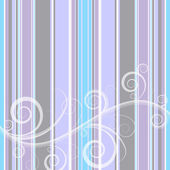 Stripes floral background — Stock Vector