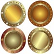 Royalty-Free Stock Vector Image: Round metallic banners