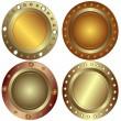 Round metallic banners — Stock Vector #1156836