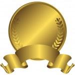 Big gold medal (vector) — Stock Vector