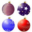 Collection Christmas balls — Stock Vector