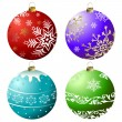 Collection Christmas Balls (vector) — Stock Vector