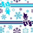 Stock vektor: Abstract seamless winter background
