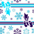 ストックベクタ: Abstract seamless winter background