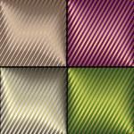 Collection diagonal backgrounds — Stock Vector
