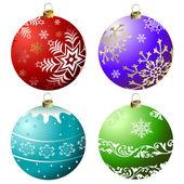 Collection Christmas Balls (vector) — Stock Vector