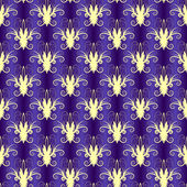 Violet seamless floral pattern — Stock Vector