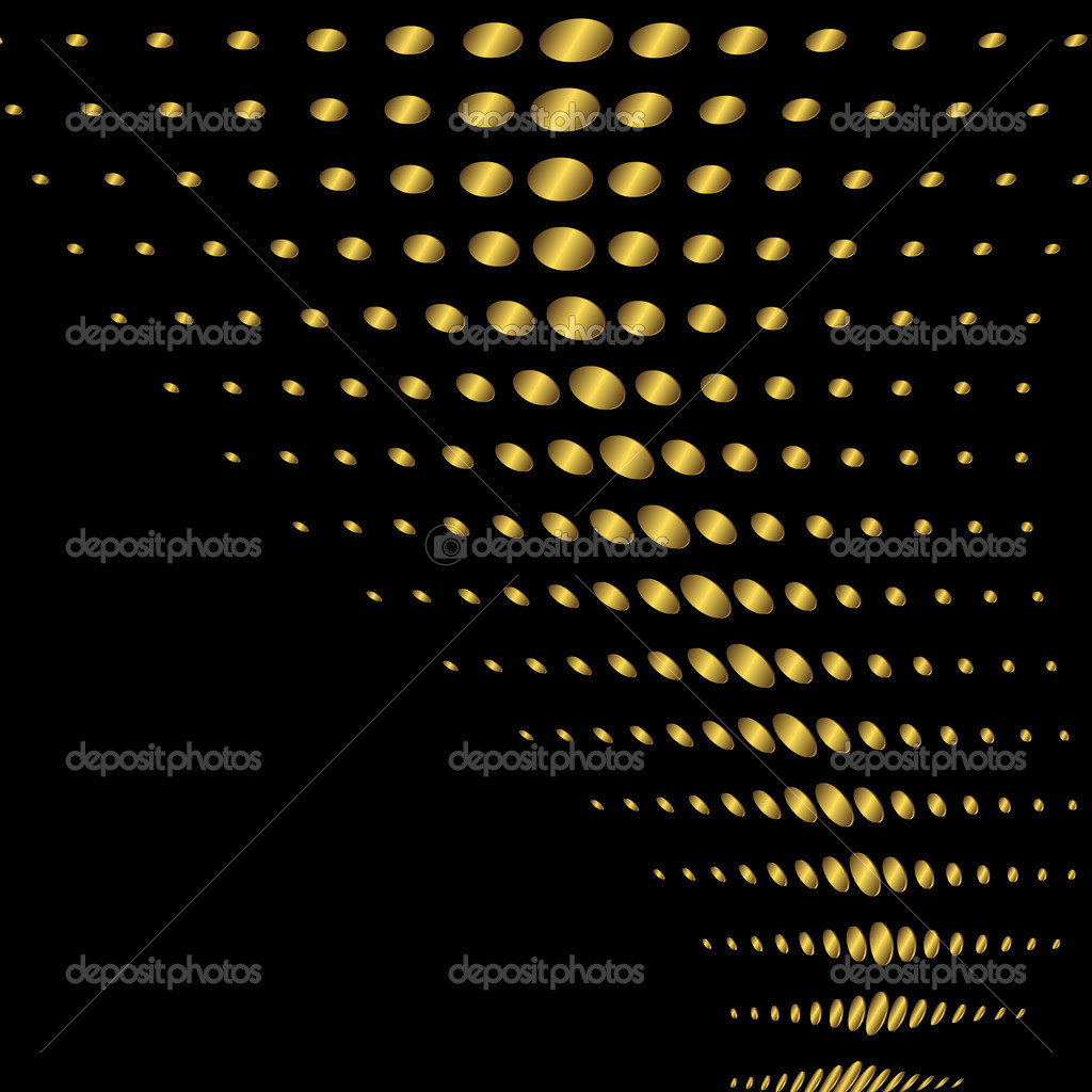 Abstract black and golden frame with a place for the text (vector) — Stock Vector #1157521