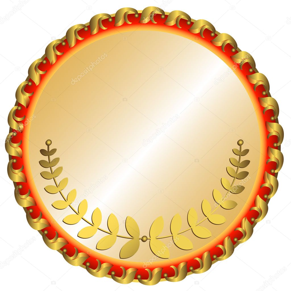 Большая Золотая медаль — Векторное изображение © OlgaDrozd ...: http://ru.depositphotos.com/1157613/stock-illustration-big-gold-medal.html