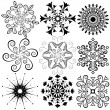 Collection  snowflakes — Stock Vector
