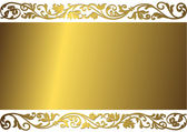 Vintage golden frame — Stock Vector