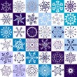 36 isolated snowflakes — Stock Vector