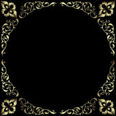 Vintage silvery frame — Stock Vector