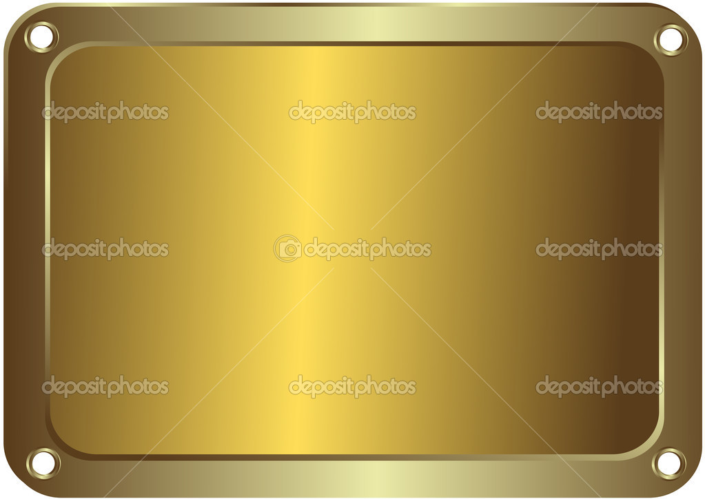Metal golden platinum with round apertures on edges — Stock Vector #1187899