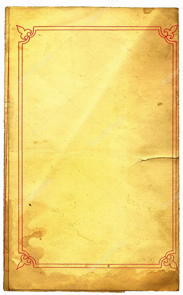 The old shabby paper cover  — Stock Photo #1198510
