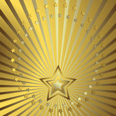 Golden background with beams — Stock Vector