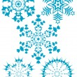 Collection blue snowflakes — Stock Vector