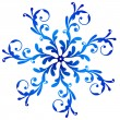 Blue vintage snowflake — Stock Vector