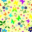 Abstract seamless floral background — Imagens vectoriais em stock