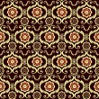 Brown seamless floral pattern (vector) — Stockvektor