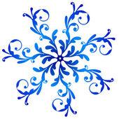 Blue vintage snowflake — Stock Vector