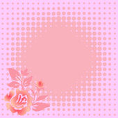 Gentle pink floral background — Stock Vector