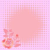 Gentle pink floral background — Stock Vector