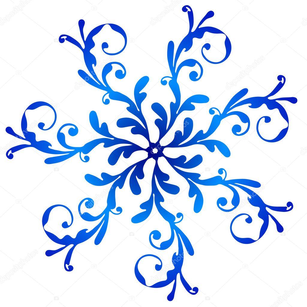 Vintage Snowflake Clip Art