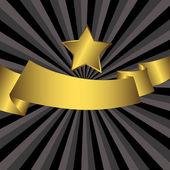 背景与黄金星 — 图库矢量图片
