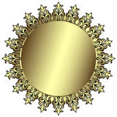 Vintage silvery round frame — Stock Vector