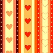 Valentine  striped seamless  background — Stock Vector