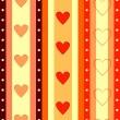 情人节条纹无缝背景 — 图库矢量图片
