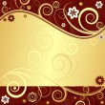 Floral elegant frame (vector) — Stock Vector