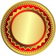 Royalty-Free Stock Vector Image: Gold big medal (vector)