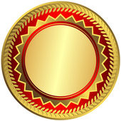 Gold big medal (vector) — Vettoriale Stock