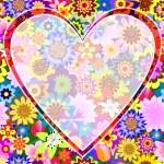Floral valentine frame — Stock Vector #1819359