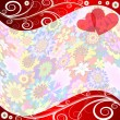 Floral valentine background — Stock Vector