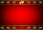 Valentine red frame (vector) — Stock vektor