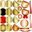 Set gold, silver and bronze awards — Stock Vector