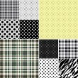Big set seamless patterns — Stok Vektör