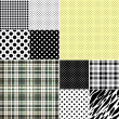 Big set seamless patterns — Stockvektor