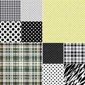Big set seamless patterns — Stock Vector