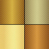 Set metallic seamless patterns (vector) — Stock Vector