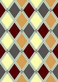 Seamless pattern in rhombuses — Stock Vector