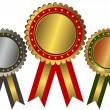 Royalty-Free Stock Vector Image: Gold, silver and bronze awards (vector)